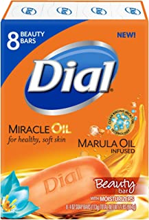 Dial Skin Care Bar Soap, Miracle Oil Marula Oil Infused, 4 Ounce, 64 Bars
