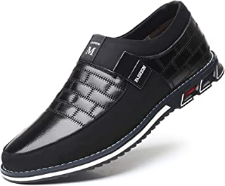 Men Casual Shoes Summer Sneakers Loafers Breathable Comfort Walking Shoes Fashion Driving Shoes Luxury Black Brown Leather Shoes for Male Business Work Office Dress Outdoor