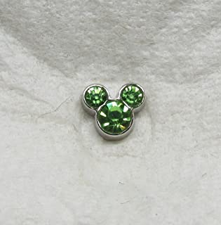 Mickey Mouse Ears August Birthstone Floating Charm