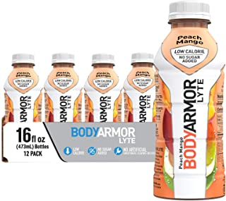 BODYARMOR LYTE Sports Drink Low-Calorie Sports Beverage, Peach Mango, Natural Flavors With Vitamins, Potassium-Packed Elec...