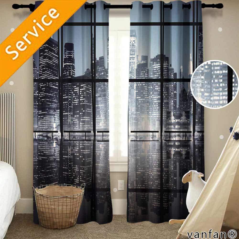 LQQBSTORAGE - Juego de cortinas y cenefas de cocina con patrón personalizado, líneas paralelas digitales vívidas, con textura de rayas, diseño de rayas, color morado y azul, cortinas para guardería (2 paneles):