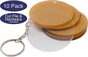 Acrylic Circles with Hardware and Cut Files for Custom Keychains | Acrylic Keychain Blanks Various Colors and Sizes | 1/8in Cast Acrylic | Made in The USA by My Local Maker