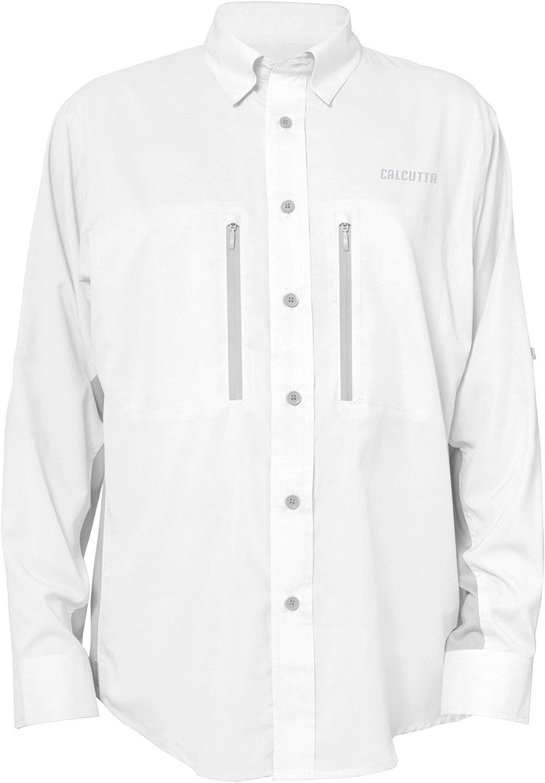 Calcutta Men's Long Sleeve Shirt Performance Fishing Popular overseas Ranking TOP19 White