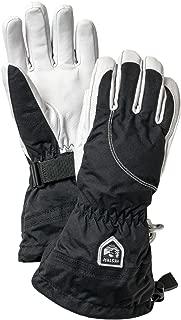 Hestra Womens Extra Warm Ski Gloves: Heli Leather Winter Cold Weather Powder Glove