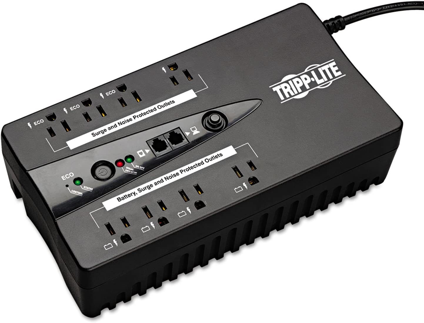 Tripp Lite Eco Sale special price Green 550VA Battery Black 8-Outlets ECO550UPST In stock