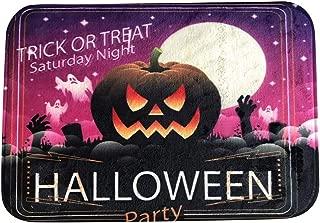 ◆◇ HebeTop◇◆ Owl Pumpkin Happy Halloween Area Rug Rug for Living Room Bedroom 4060cm