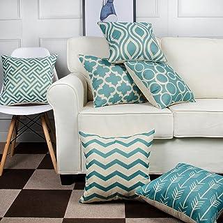 6PC/Set Home Decorative Pillowcase Cotton Linen Sofa Cushion Throw Pillow Cover
