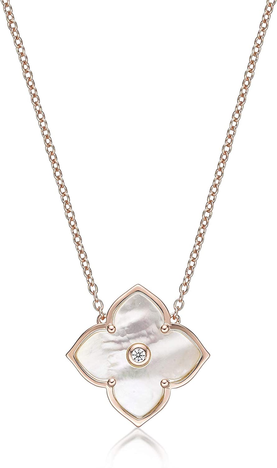Inexpensive Mother of Ranking TOP18 Pearl Cubic Zirconia Flower for Women Necklace Pendant