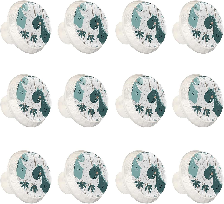 WARMFM Cute Dinosaurs Set of 12 Dra SALENEW very popular Round Bargain sale Cabinets Hardware Knob