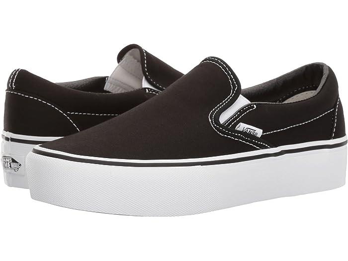 Fe ciega Moderador Continuamente  Vans Classic Slip-On Platform | Zappos.com