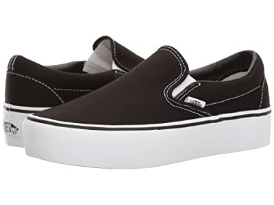 Vans Classic Slip-On Platform (Black) Slip on Shoes