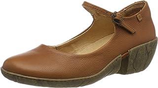 46caa044 El Naturalista N5480 Soft Grain Cuero/Caliza, Zapatos de tacón con Punta  Cerrada para