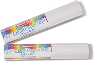 """Melissa & Doug 12"""" Easel Paper Rolls, Arts & Crafts, Bond Paper, 75-Foot Rolls, 2-Pack, Great Gift for Girls and Boys - Best for 3, 4, 5 Year Olds and Up"""
