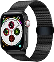 Smart Watch Bands Compatible with Series 5 4 3 2 1, Mesh Band 42mm 44mm, Stainless Steel Sport Wristbands for Men Women (Black, 42/44mm)
