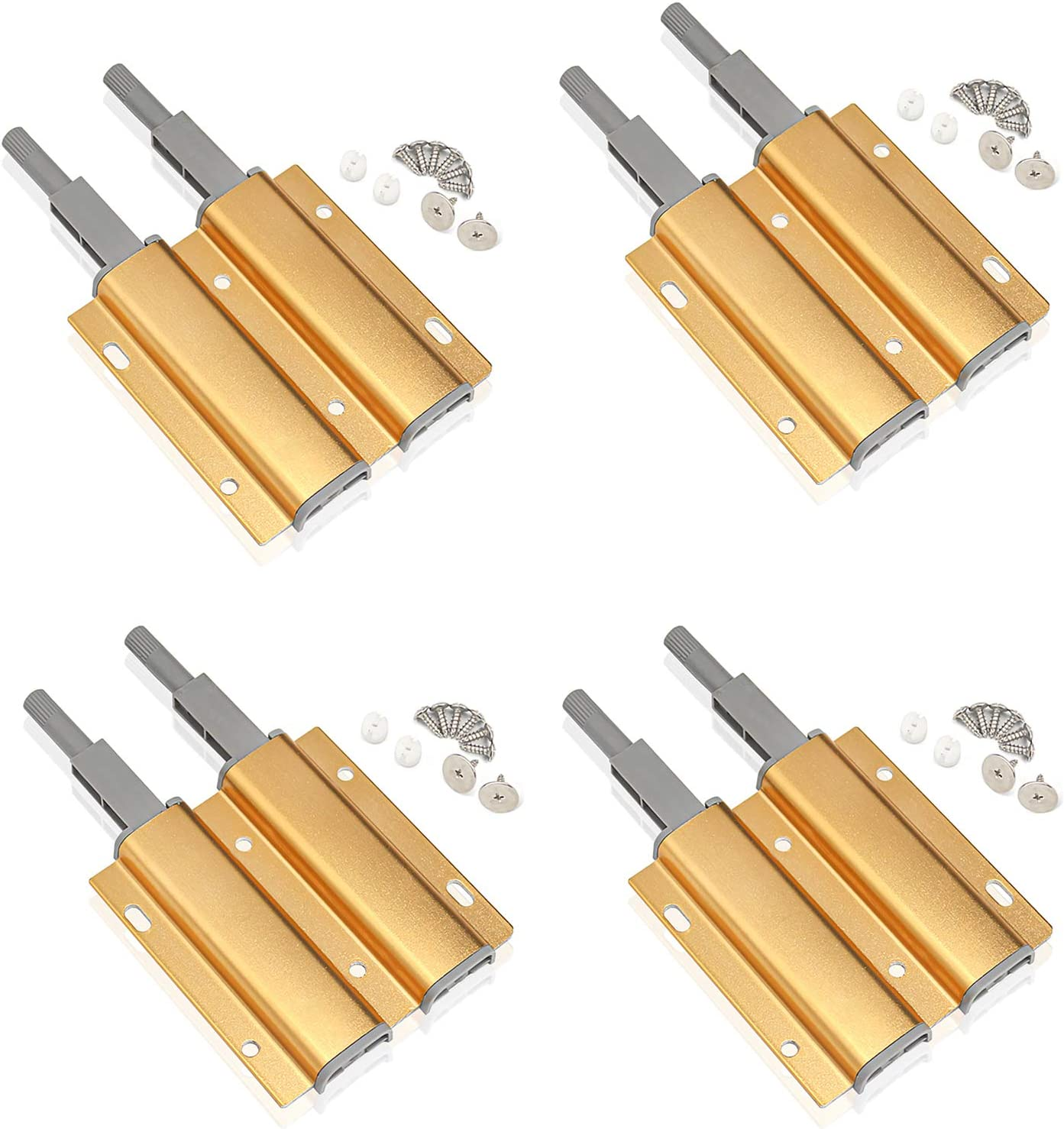 Nippon regular agency Magnetic Regular discount HeavyDuty Cabinet Push to Open Latch Pack 4 Double Gold