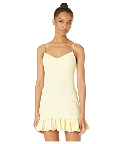 1.STATE Spaghetti Strap Ruffle Hem Slip Dress (Honey Suckle) Women