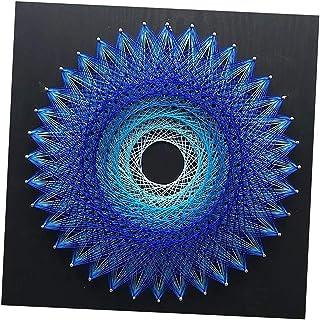 Bonarty String Art Handmade Decoration String Kits Art pour Enfants Adultes - Nid D'oiseau - Bleu