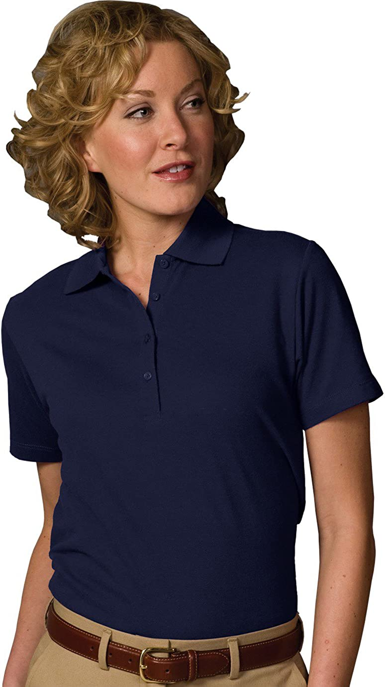 Edwards Garment Women's Soft Touch Blended Polo, XXX-Large, Navy