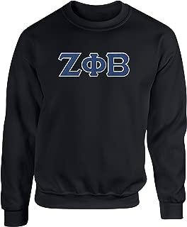 Zeta Phi Beta Embroidered Twill Letter Crew Neck Sweatshirt