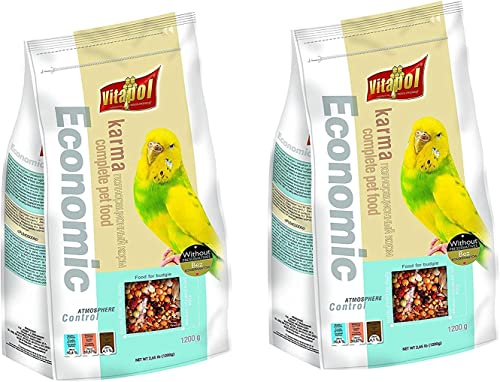 Pupkart Vitapol Economic Bird Food for Budgies Bag (1200 g) - Pack of 2