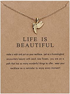 Birthday Christmas Gifts for Daughter from Mom Pendant Chain Necklace for Women Cute Choker Necklaces for Best Friends Mat...