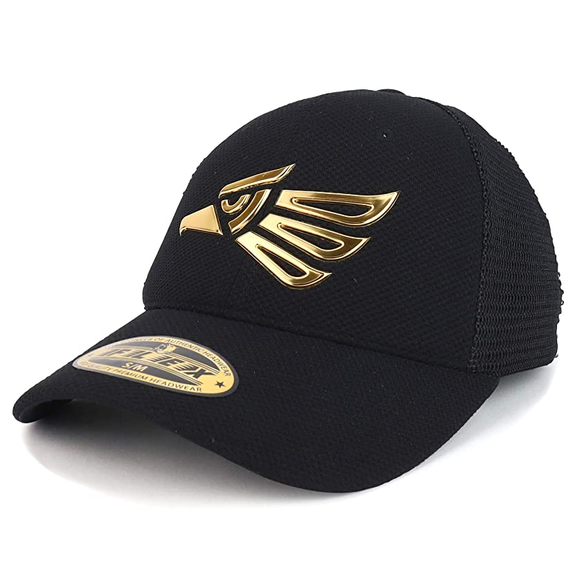 Trendy Apparel Shop High Frequency Hecho en Mexico Eagle Fitted Trucker Cap