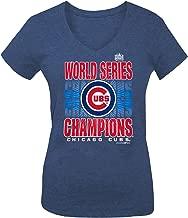 5th & Ocean Chicago Cubs Women's 2016 World Series Champs Blue Shining V-Neck T-Shirt