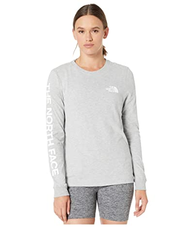 The North Face Long Sleeve Brand Proud Tee (TNF Light Grey Heather/TNF Black) Women