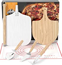 SHINESTAR Pizza Oven Tools and Accessories, Includes Pizza Peel 12 Inch Wood & Metal, Pizza Wheel Cutter Slicer, Server an...