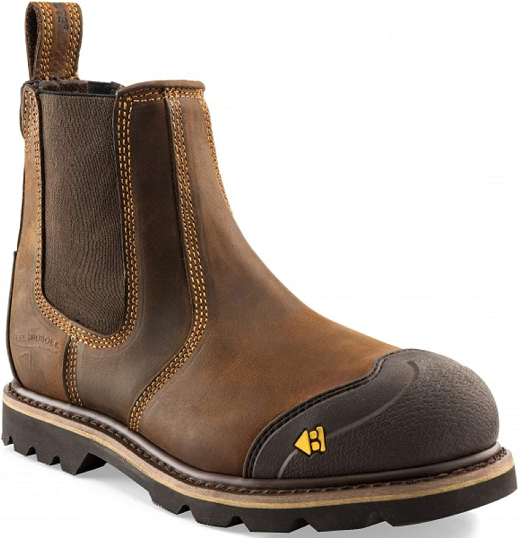 Buckler Scuff Toe Safety Dealer Boot 1990SM Dark Brown Crazy Horse Leather (11 UK)