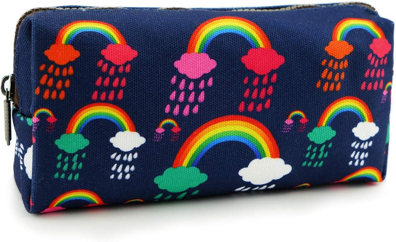 LParkin Rainbows Luxury Clouds Canvas Pencil Pen Case Station Pouch Ranking TOP20 Bag
