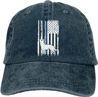 K9 Police Officer Thin Blue Line German Flag Dad Hat Denim Baseball Cap Adjustable Polo Trucker