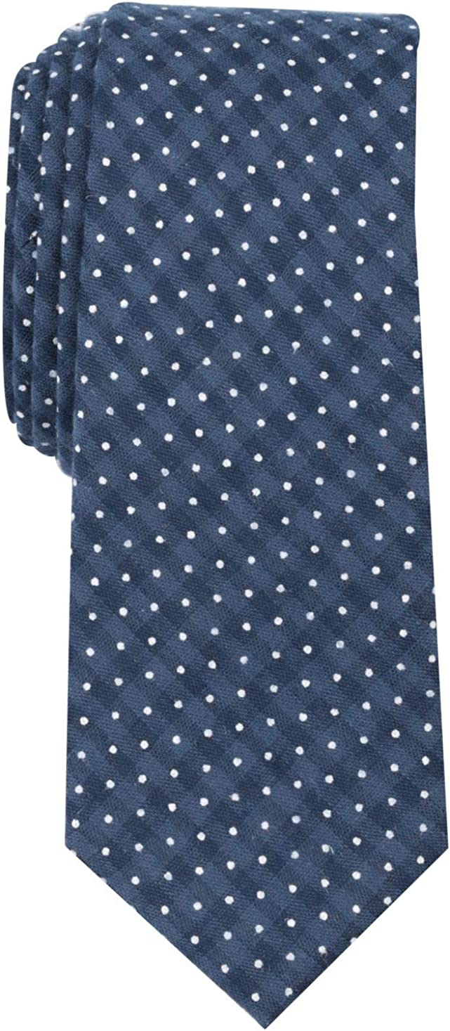Bar Iii Mens Dot Check Self-Tied Necktie