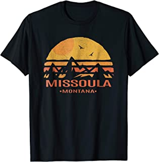 Missoula Montana Mountains Distressed Style Souvenir T-Shirt