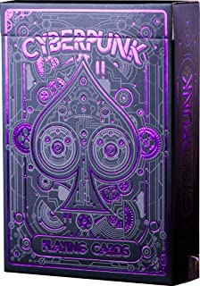 Cyberpunk Purple Playing Cards, Deck of Cards, Premium Card Deck, Cool Poker Cards,..
