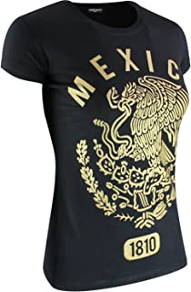 Mexico Established 1810 Shirt Gold Mexican Eagle Print Aguila Mexicana