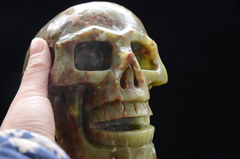 Natural Green Gemstone Crystal Quartz Fig Singing Bombing free shipping Max 47% OFF Skeleton Skull