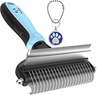Dog Brush and Cat Brush – 2 Sided Pet Grooming Tool for...