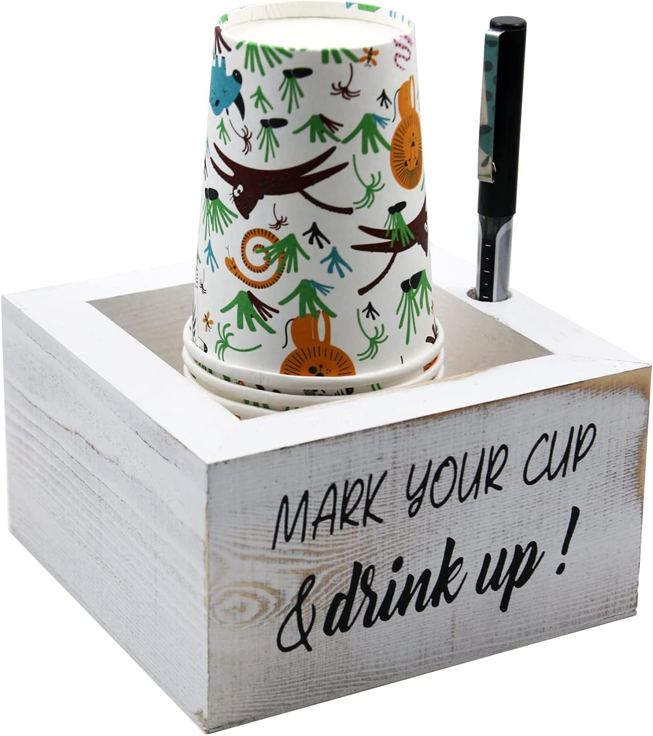 Clearance SALE Limited time Solo Cup Holder Mark Your and Drink Choice Bathroom Dis Wood Up