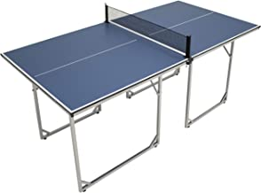 Sunnydaze Compact Table Tennis Table, Folding, Multi-Use Free Standing Table, Net Included, 72 x 36 Inches