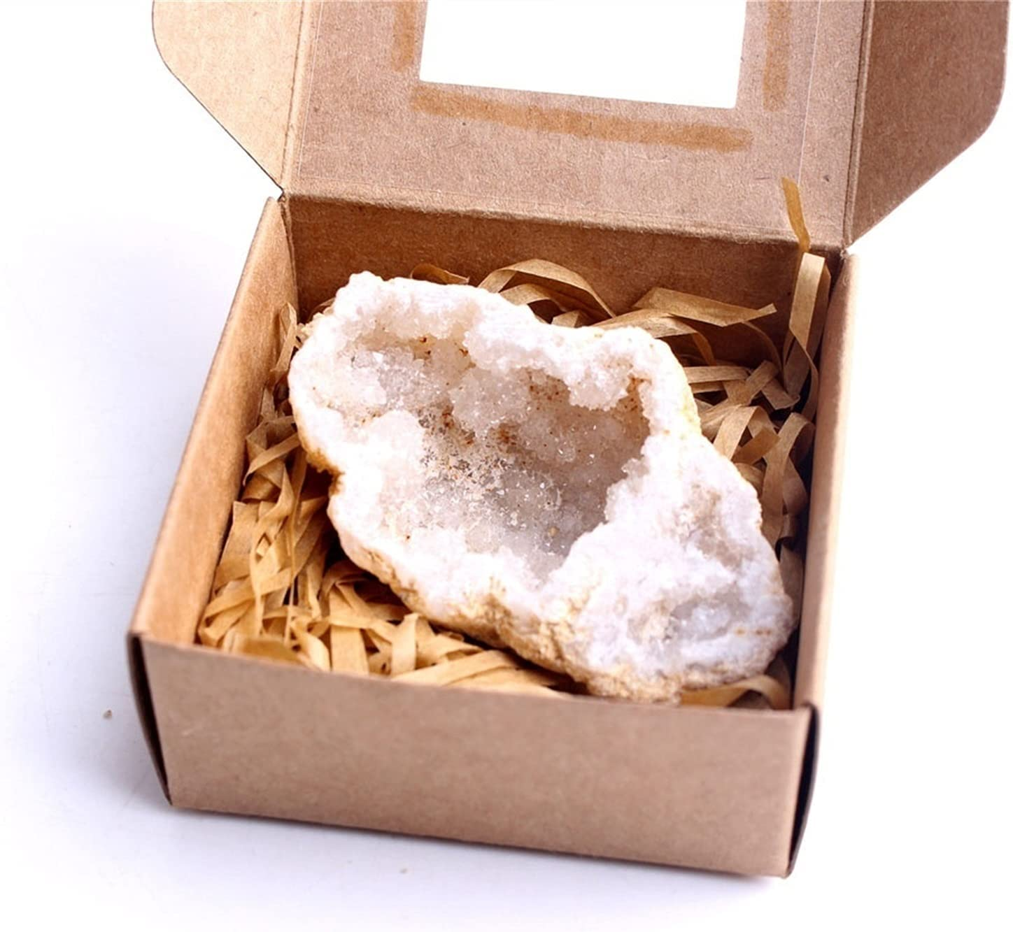 WUBBHIN Max 58% OFF Crystal Rough Natural Agate Clust with Box Max 52% OFF Geode
