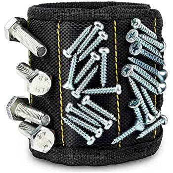 Magnetic Wristband for Holding Tools Magnetic Wristband with Strong Magnets for Screws Nails,Father's Day Gift for Men Husband Boyfriends