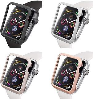 qualiquipment aluminiowe etui 44 mm/40 mm kompatybilne z Apple Watch iWatch, akcesoria metalowe, aluminiowe etui ochronne ...