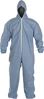DuPont Proshield 6 TM127S Secondary Flame Resistant Coverall with Attached Hood, Blue, 5X-Large (Case of 25)