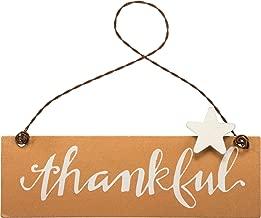 PBK Fall Decor - Small Tin Ornament Sign Thankful #33695
