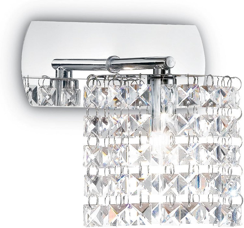 L'Aquila Design Arrotamenti Ideal Lux Pendelleuchte Spirit Chrom Kristall Glas Wand 1Licht Eingang AP1