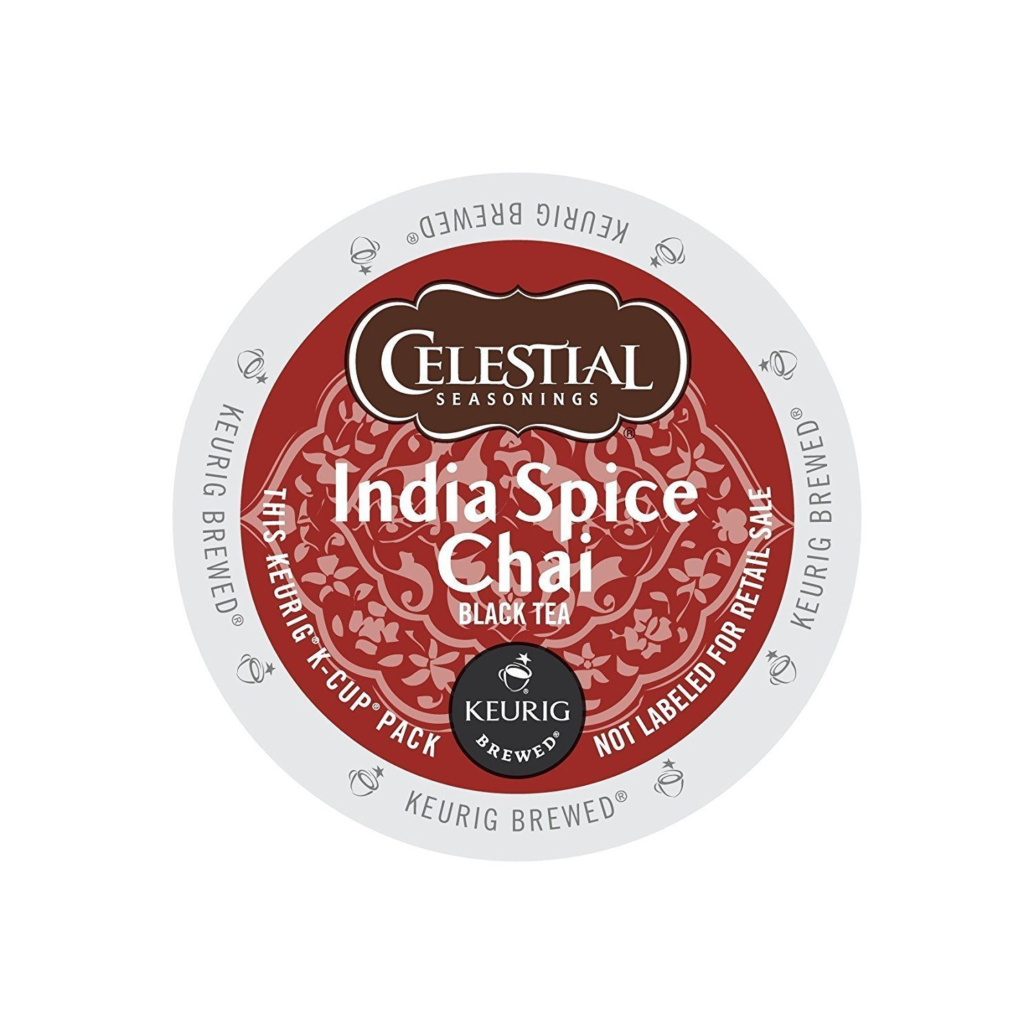 Factory outlet Celestial Seasonings India Spice Chai Case K-Cup Under blast sales Tea Count 48