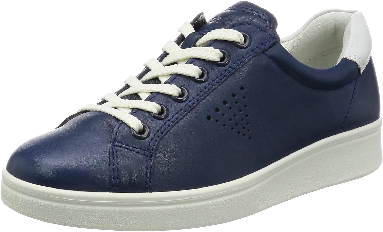 Ecco Womens Soft 4 True Navy White Leather shoes 41 EU