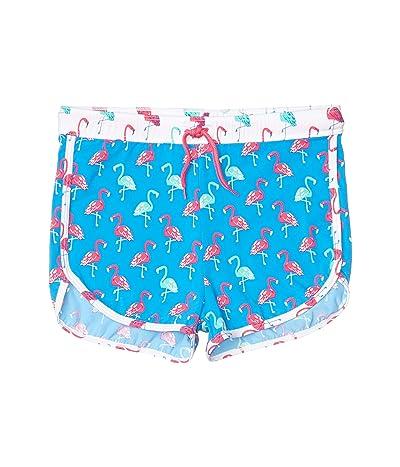 Hatley Kids Fancy Flamingos Swim Shorts (Toddler/Little Kids/Big Kids) (Blue) Girl