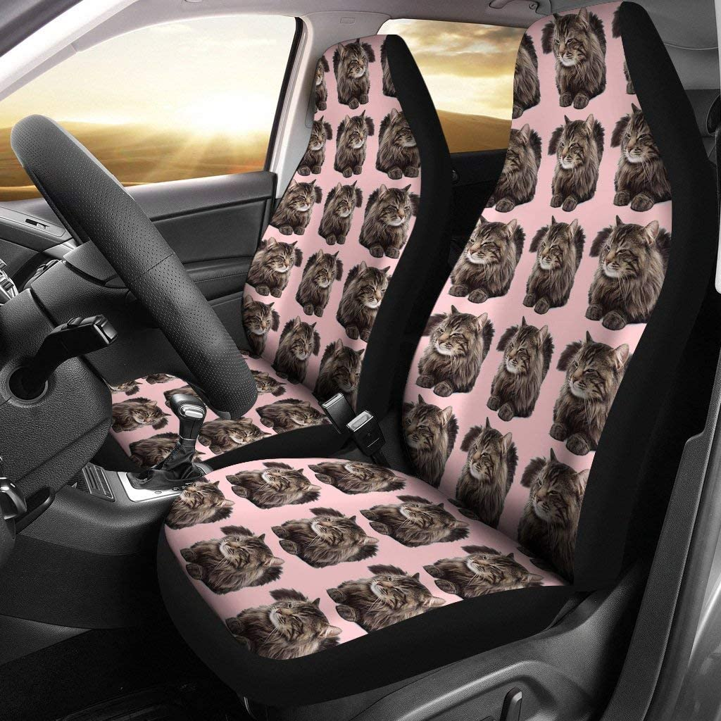 Maine Coon 2021 autumn and winter new Cat Pattern overseas Seat Covers Car Print